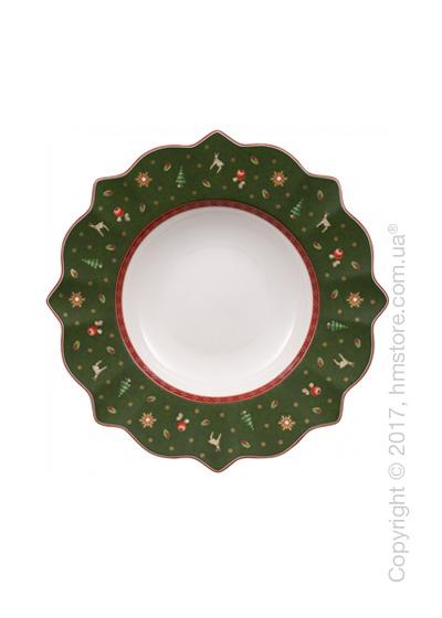 Тарелка столовая глубокая Villeroy & Boch коллекция Toy's Delight, 26 см, Green