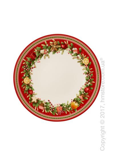 Тарелка столовая мелкая Villeroy & Boch коллекция Winter Bakery Delight, 27 см