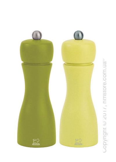 Набор мельниц для соли и перца Peugeot Tahiti Spring 15 см, Green