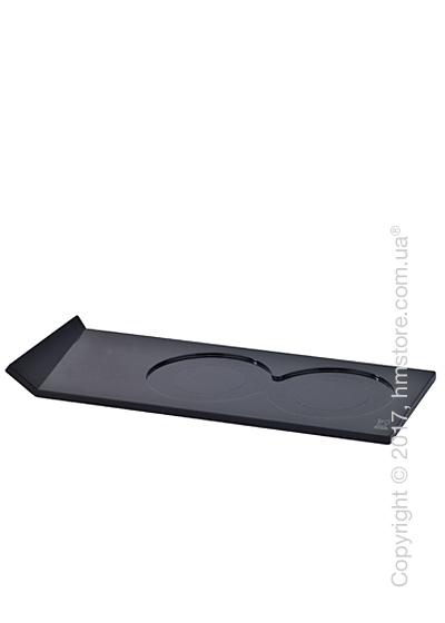 Подставка для 2-х мельниц высотой до 21 см Peugeot Alpha, Black