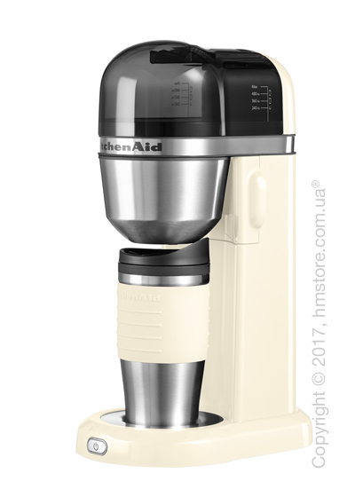 Персональная кофеварка KitchenAid Personal Coffee Maker with 18 oz Thermal Mug, Almond Cream. Купить