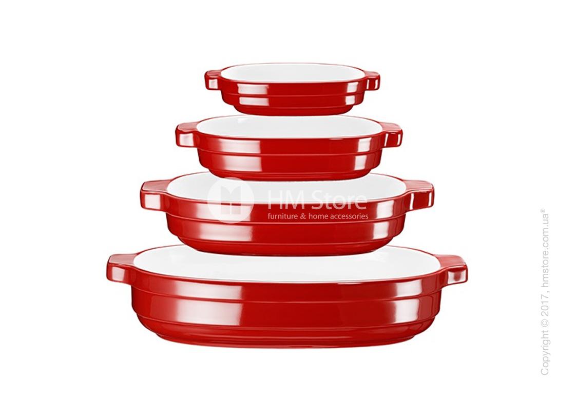 Набор емкостей керамических KitchenAid Ceramic 4 предмета, Empire Red