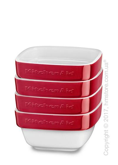Набор емкостей керамических 10х10 KitchenAid Ceramic Ramekin 4 предмета, Empire Red