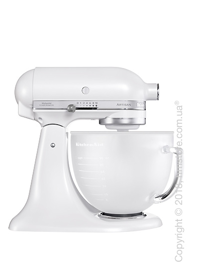 Планетарный миксер KitchenAid Artisan Series 5-Quart Tilt-Head Stand Mixer 4.8 л, Frosted Pearl White