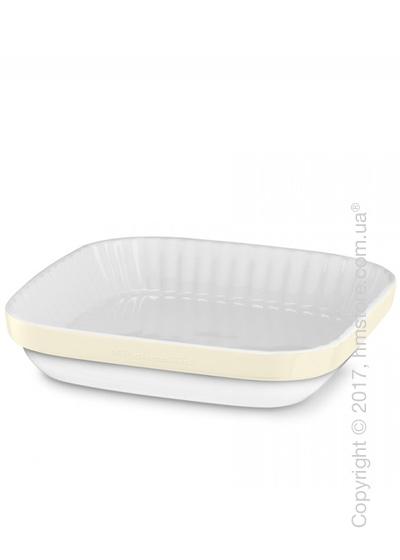 Форма для выпечки керамическая 26х26 см KitchenAid Ceramic, Almond Cream