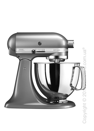 Планетарный миксер KitchenAid Artisan Series 5-Quart Tilt-Head Stand Mixer 4.8 л, Contour Silver