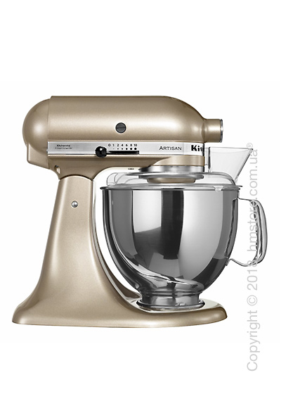 Планетарный миксер KitchenAid Artisan Series 5-Quart Tilt-Head Stand Mixer Plus Bowl 4.8 л, Golden Nectar