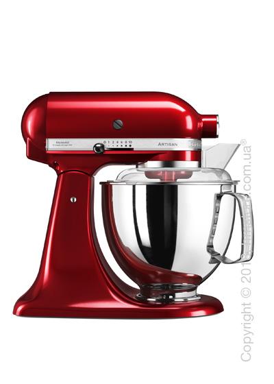 Планетарный миксер KitchenAid Artisan Series 5-Quart Tilt-Head Stand Mixer Plus Bowl 4.8 л, Candy Apple Red