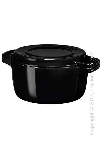 Кастрюля чугунная KitchenAid Cast Iron 28 см, Onyx Black