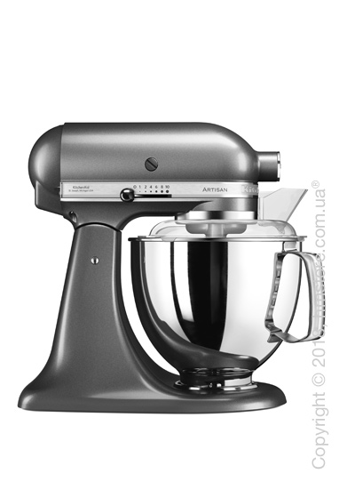 Планетарный миксер KitchenAid Artisan Series 5-Quart Tilt-Head Stand Mixer Plus Bowl 4.8 л, Medallion Silver