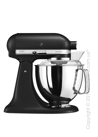 Планетарный миксер KitchenAid Artisan Series 5-Quart Tilt-Head Stand Mixer Plus Bowl 4.8 л, Cast Iron Black