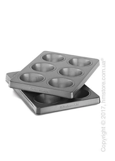 Набор форма для выпечки KitchenAid Muffin Forms 2 предмета, Steel