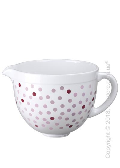 Чаша керамическая для миксера KitchenAid 4.8 л, Pink Polka Dot