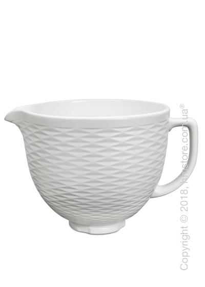 Чаша керамическая для миксера KitchenAid 4.8 л, White Structured