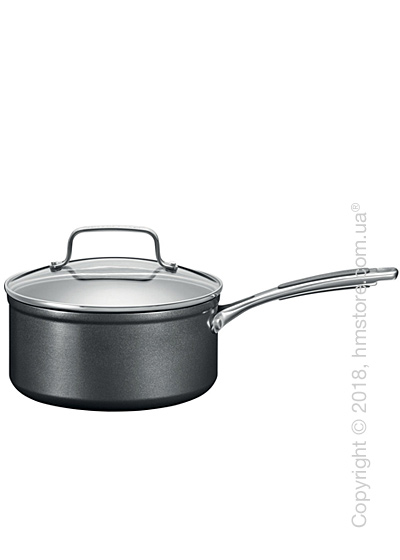 Сотейник с крышкой KitchenAid Saucepan серия Hard Anodized 18 см, Black