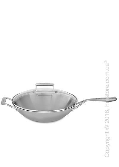 Сковорода Вок KitchenAid Wok серия 3-Ply Stainless Steel 33 см