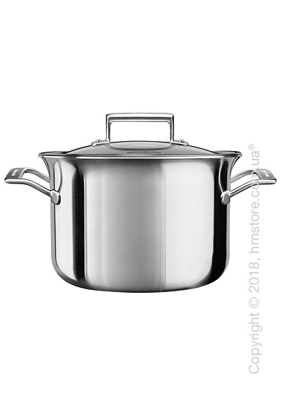 Кастрюля с крышкой KitchenAid Casserole серия 3-Ply Stainless Steel  7.57 л