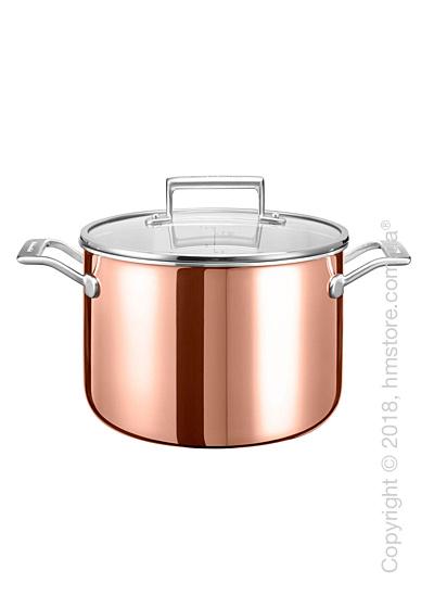 Кастрюля с крышкой KitchenAid Casserole серия 3-Ply Copper 7.57 л