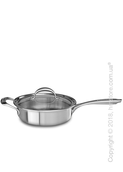 Сотейник с крышкой KitchenAid Sauce серия 5-Ply Cooper Core 3.31 л, Stainless Steel