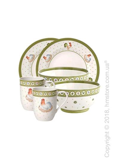 Набор фарфоровой посуды Villeroy & Boch коллекция Farmers Spring на 2 персоны, 6 предметов
