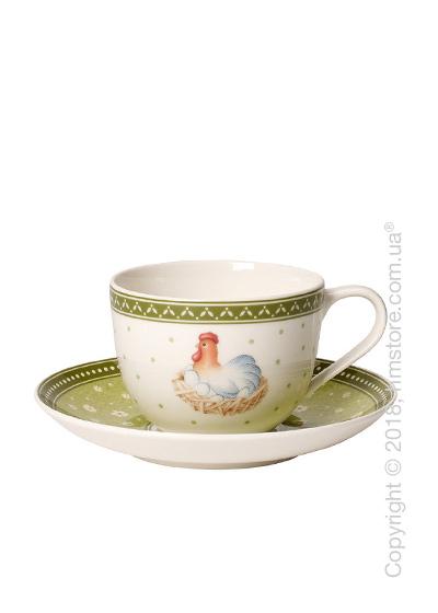 Чашка с блюдцем Villeroy & Boch коллекция Farmers Spring Hen, 230 мл