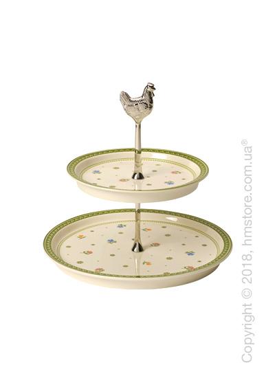 Блюдо для подачи двухъярусное Villeroy & Boch коллекция Farmers Spring