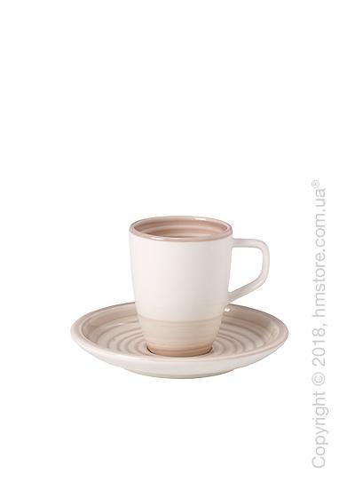Чашка для эспрессо с блюдцем Villeroy & Boch коллекция Artesano Nature, 100 мл, Beige