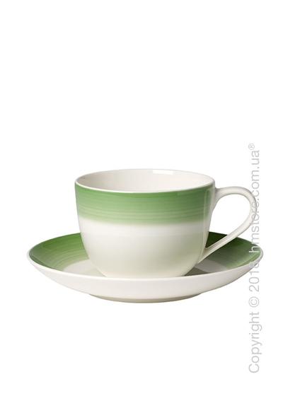 Чашка с блюдцем Villeroy & Boch коллекция Colourful Life, 230 мл, Green Apple