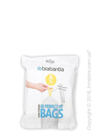 Набор пакетов для мусора Brabantia PerfectFit Bags Code A на 3 л, 60 штук