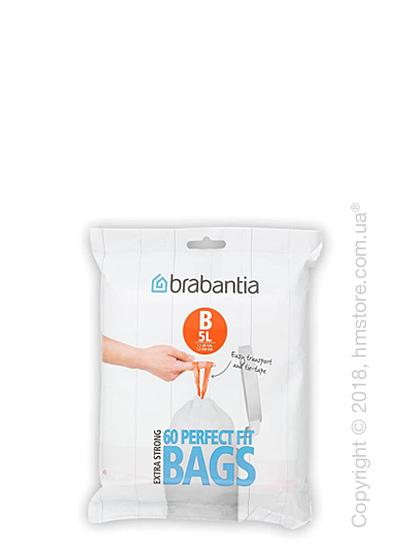 Набор пакетов для мусора Brabantia PerfectFit Bags Code B на 5 л, 60 штук