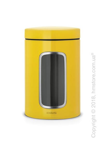 Емкость для хранения сыпучих продуктов Brabantia Window 1,4 л, Daisy Yellow