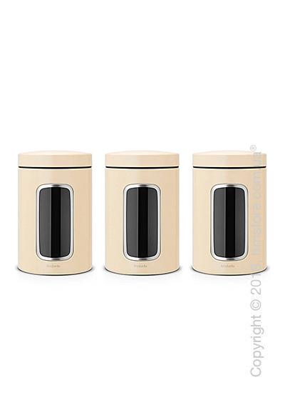 Набор емкостей для хранения сыпучих продуктов Brabantia Window 1,4 л, Almond