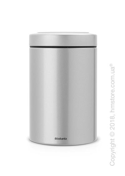 Емкость для хранения сыпучих продуктов Brabantia Window Lid 1,4 л, Metallic Grey