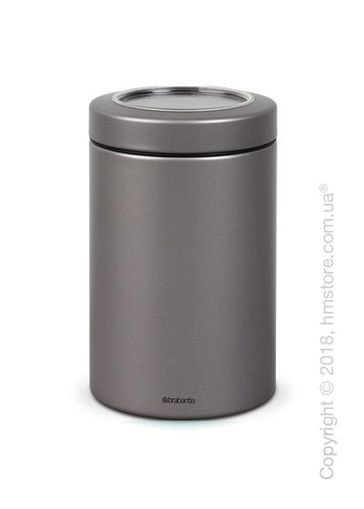 Емкость для хранения сыпучих продуктов Brabantia Window Lid 1,4 л, Platinum