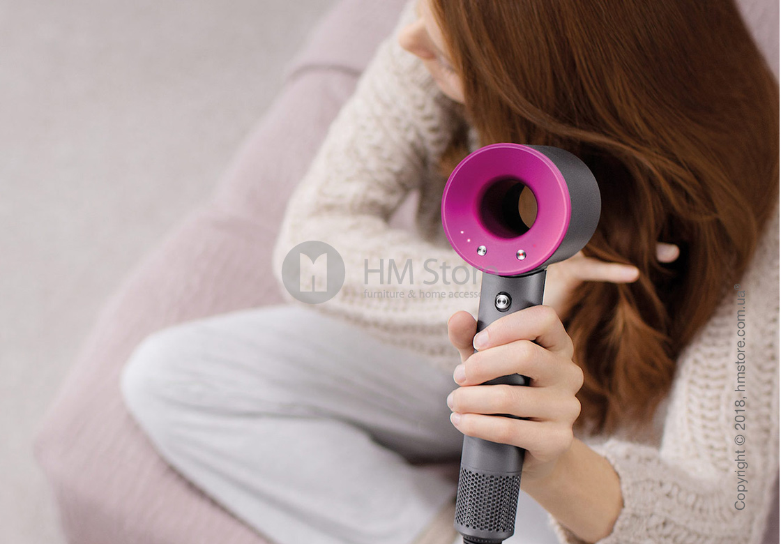 Фен Dyson Supersonic with Case, Fucsia and Iron
