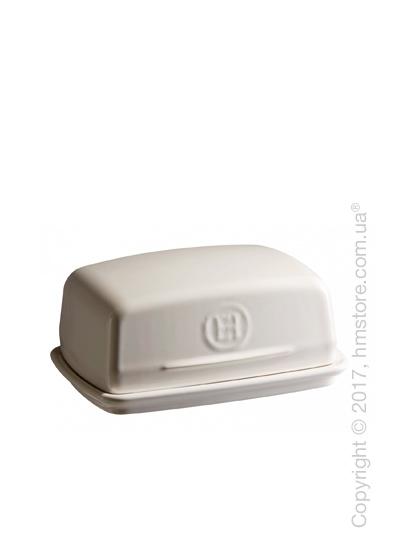 Емкость с крышкой для сливочного масла керамическая Emile Henry Butter Dish, Clay