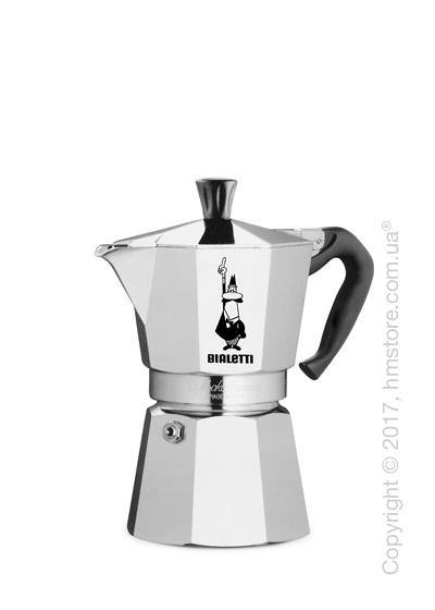 Кофеварка гейзерная Bialetti Moka Express на 2 чашки, Metallic
