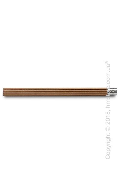 Комплект простых карандашей Graf von Faber-Castell 5 Pocket Pencils, Platinum-Plated, Brown