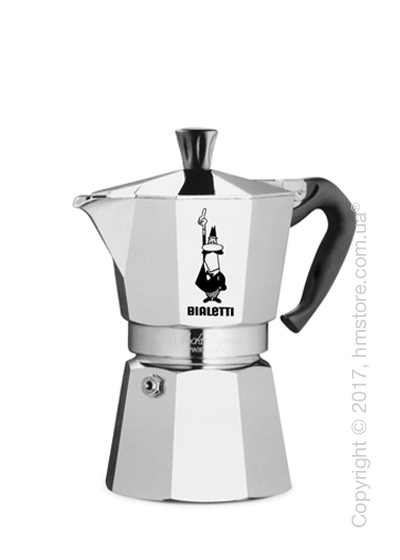 Кофеварка гейзерная Bialetti Moka Express на 4 чашки, Metallic