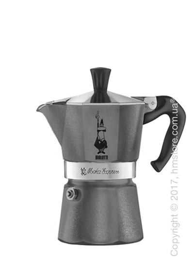 Кофеварка гейзерная Bialetti Moka Express Emotion на 3 чашки, Grey
