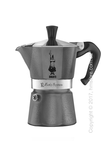 Кофеварка гейзерная Bialetti Moka Express Emotion на 6 чашек, Grey