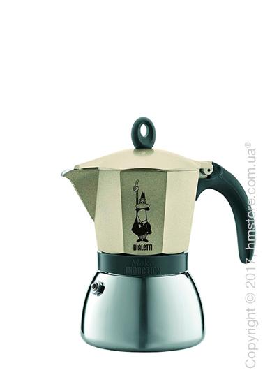 Кофеварка гейзерная Bialetti Moka Express Induction на 3 чашки, Light Gold