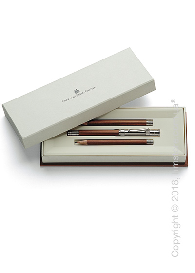 Настольный набор Graf von Faber-Castell 3 Perfect Pencils Platinium-Plated, 3 предмета, Brown