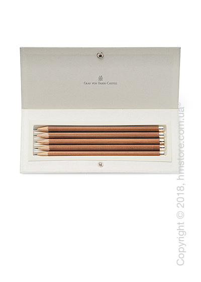 Настольный набор Graf von Faber-Castell 5 Pencils No. III With Silver Cap, 5 предметов