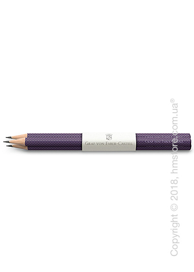 Комплект простых карандашей Graf von Faber-Castell 3 Graphite Pencils Guilloche, Violet Blue
