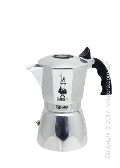 Кофеварка гейзерная Bialetti Brikka на 4 чашки, Metallic