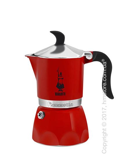 Кофеварка гейзерная Bialetti Fiammetta на 3 чашки, Red