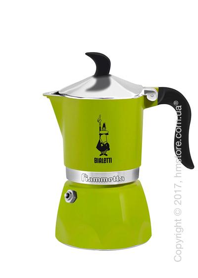 Кофеварка гейзерная Bialetti Fiammetta на 3 чашки, Green