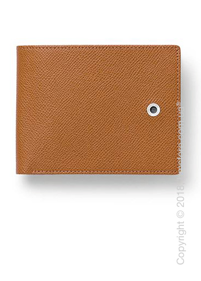 Бумажник Graf von Faber-Castell Wallet With Flap, Cognac Grained Leather