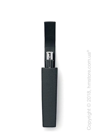 Кожаный пенал для ручки Graf von Faber-Castell Sliding Case for 1 Pen of The Year, Black Grained Leather